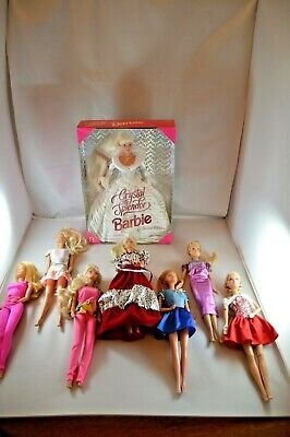 Seven vintage 80s Barbies, plus Crystal Splendor #15136 1995 LOT