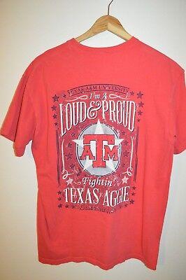 Mens COMFORT COLORS Texas A&M University Aggies Bow Ties T-Shirt Meidum Pink ()