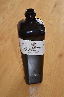 Fifty Pounds Gin bottle 70cl - Upcycle Craft, Wedding, Decoration, light, garden