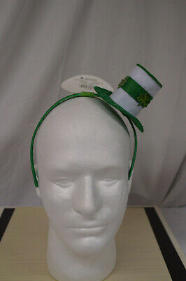 NEW Leprechaun St. Patricks Day Light up FLASHING Mini Top Hat Headband - Top Hat Flashing