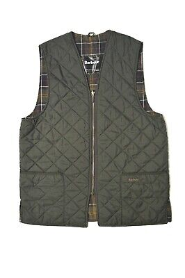 Barbour Quilted Waistcoat Gilet Vest Green c44/112cm