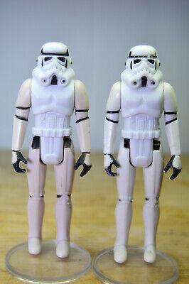 Vintage Star Wars Stormtrooper Lot (2) 1977 NO REPRO KENNER FIRST 12