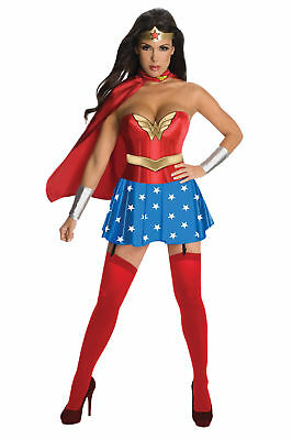 Wonder Woman Corset Deluxe Adult Womens Costume Movie Heroine Party Halloween