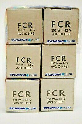 (6) Sylvania FCR Projection Lamp 12V - 100W, Brand New