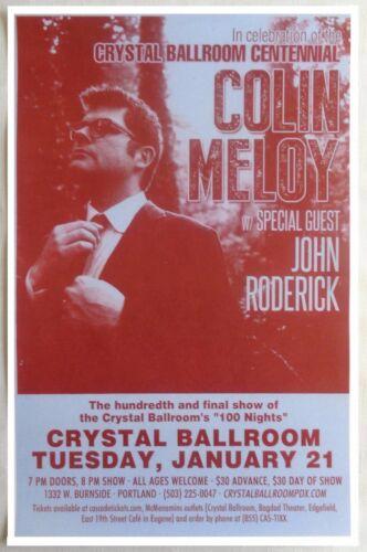 COLIN MELOY THE DECEMBERISTS Gig POSTER 2014 Portland Oregon Concert