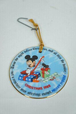 Disney Christmas Plate - Disney Christmas Mini Plate Ornament Christmas 1988