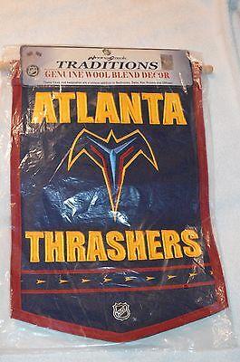 Atlanta Thrashers Pennant/Banner Defunct NHL Hockey Team New Wool Blend 18 x 12 Atlanta Thrashers Hockey Team