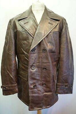 Vintage Distressed L.GROLL AKTA Getskinn Leather Jacket Size 54 (UK M)
