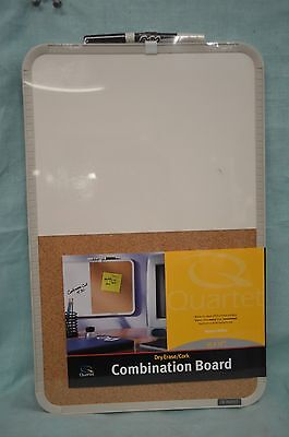 Quartet Combo Bulletin Board Dry Erase Cork Home Office Dorm School 11 X 17 Nw