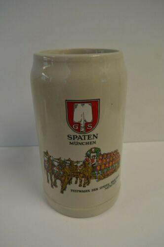 Vintage Bierkrug Sammelkrug Spaten München Festwagen Der Spaten Beer Stein/Mug