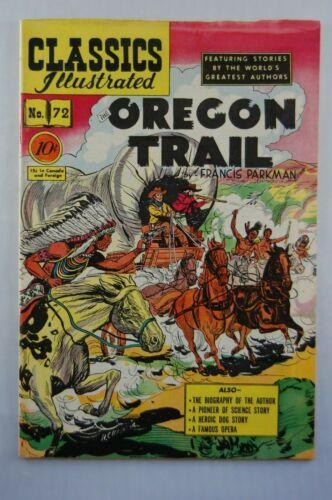 CLASSICS ILLUSTRATED COMICS #72 THE OREGON TRAIL (O) HRN 73 FN-