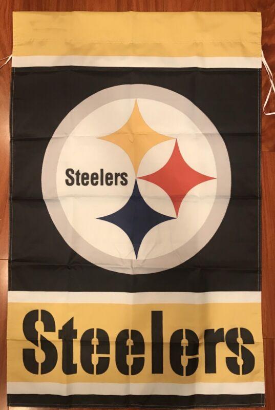 "Pittsburgh Steelers Football House Flag 28"" x 40"" 2 Double Sided USA Ship"