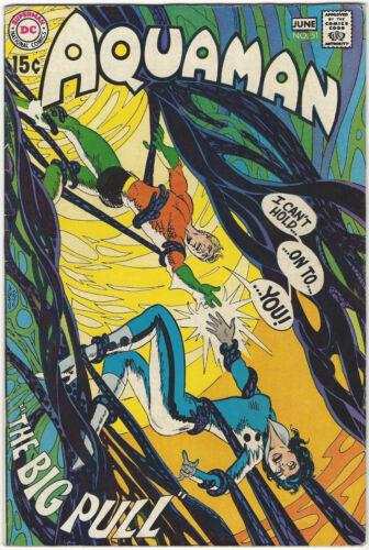 AQUAMAN #51 FN/VF May-Jun '70 Aparo Skeates NEAL ADAMS Deadman-art/sty DC Comics