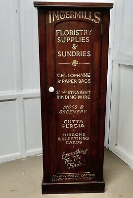 Victorian Mahogany Tall Shelved Shop Cupboard,