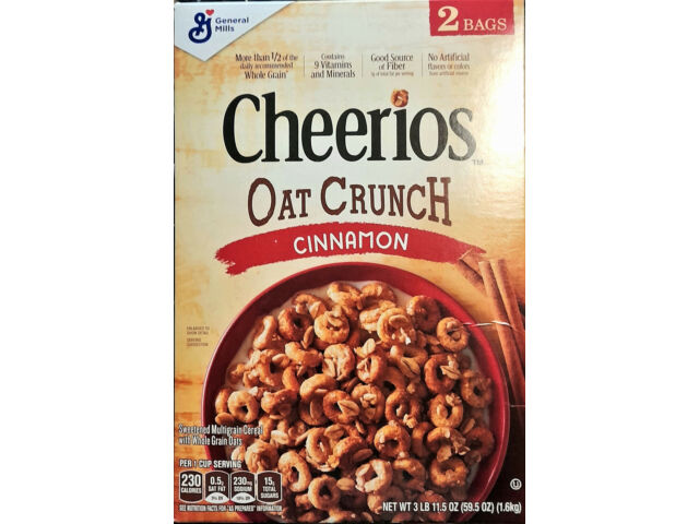 GENERAL MILLS Cheerios Oat Crunch 'Cinnamon'  Cerealien 1600 gr Original USA
