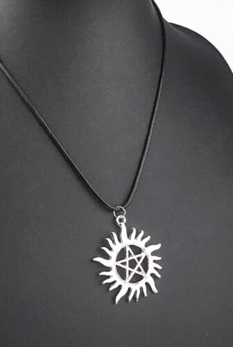 Supernatural Series Anti-Possession Symbol Pendant Necklace With 18 Leather Cor - $4.99
