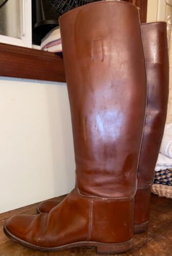 Marlborough Brown Leather Riding Equestrian Boots 9 A