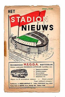 1957 -1958 Rare Friendly Feyenoord ( Holland ) v Bolton Wanderers