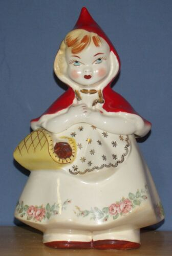 Vintage Hull-Ware #967 Little Red Riding Hood cookie jar USA