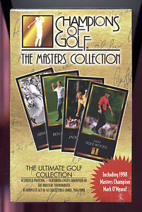 1998 Grand Slam Ventures Champions of Golf the Masters Collection Factory Set