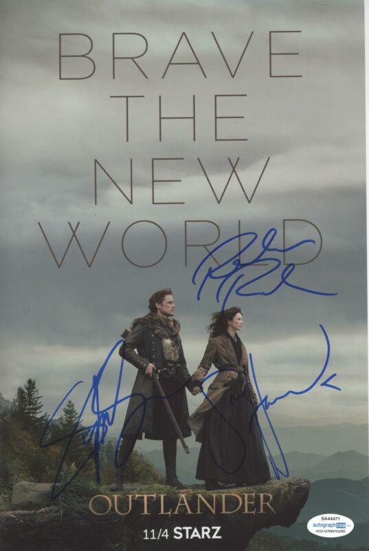 "Sam Heughan, Richard Rankin & Sophie Skelton ""Outlander"" SIGNED 8x12 Photo B"