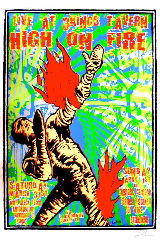 High On Fire Concert Poster 2007 Lindsey Kuhn