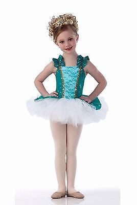Anastasia Dance Costume Jade Tap Ballet Princess Tutu with Tiara Child X-Large (Jade Costume)