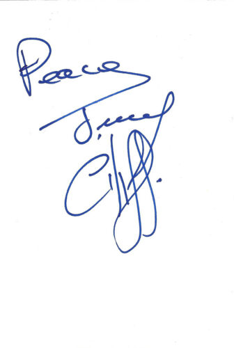 Jimmy Cliff signed 4x6 inch white card autograph