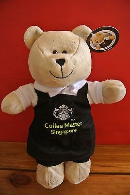 STARBUCKS Awful Apron Coffee Masters Singapore Bearista Bear