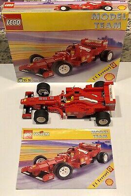 LEGO 2556 ~ Shell F1 Ferrari ~ Model Team ~ 100% Complete w/ Instructions & Box!