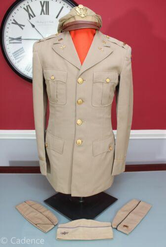 US WW2 USAAF Army Air Forces Uniform Group W/ Bancroft Flighter True Crusher!!