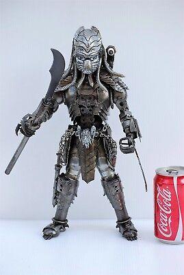 Predator classic (action 1, mask H ) Scrap Metal Sculpture Art Handmade Gift - Metal Predator Mask