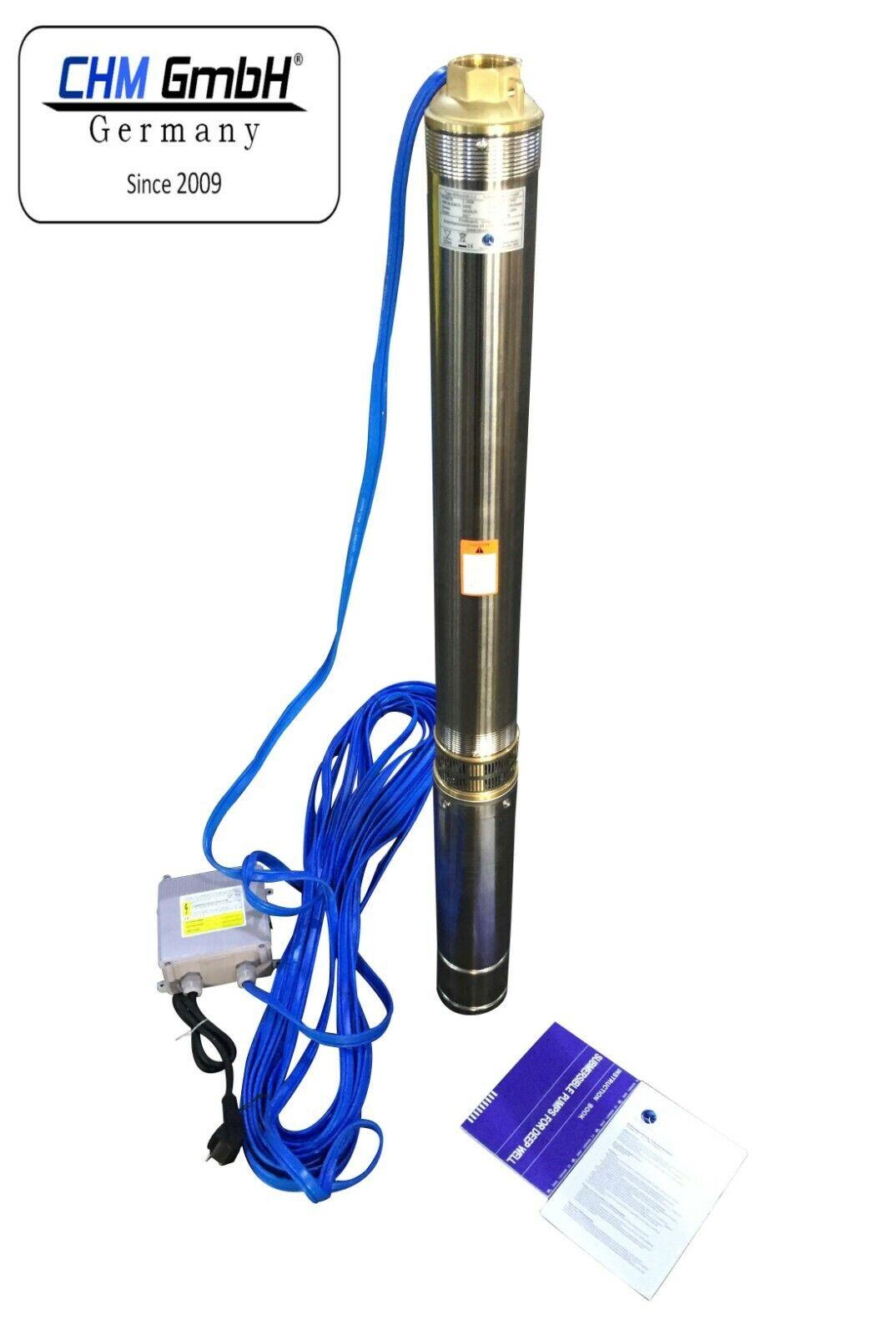 """Tiefbrunnenpumpe 3/"""" Zoll 75mm Energiespar Tauchpumpe Wasserpumpe Pumpe Rohrpumpe"""