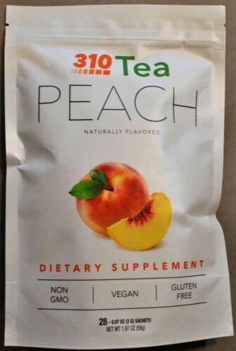 310 NUTRITION Peach Tea Blend Natural Herbs 28 Sachets NEW SEALED