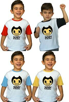 Bendy and The Ink Machine Kids Boy Girl T Shirt New Horror Game inspired Clothes - Boy And Girl Games