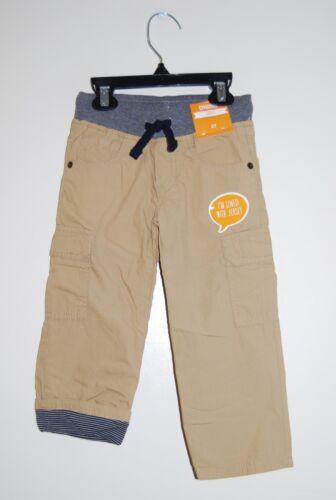NWT Gymboree Toddler Boys Tan Khaki Jersey-Lined Cargo Pants sz 2T