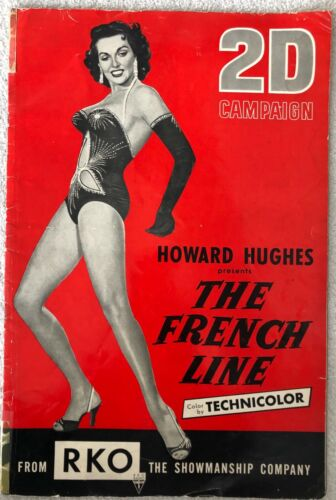THE FRENCH LINE - VINTAGE ORIGINAL 1954 JANE RUSSELL PRESSBOOK - 28 PAGES
