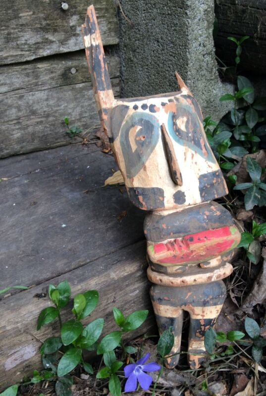 Hopi Kachina Doll Antique Koshare Hano Sacred Clown Native American 1920