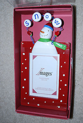 Christmas Snowman Picture Frame 3.5x5 Photo Holiday Frames 10