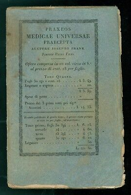 FRANK JOSEPHO PRAXEOS MEDICAE UNIVERSAE PRAECEPTA SYSTEMATI NERVOSI BALBINI 1821