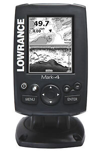 NEW Lowrance Mark-4 Combo Marine Fishfinder and GPS Chartplotter 10483-001