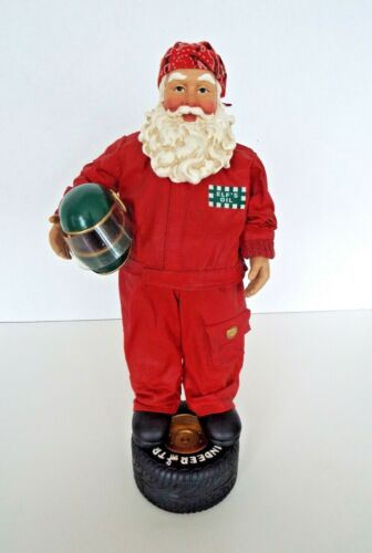 Vintage Clothtiques Santa Figurine North Pole 500 Auto Racing NASCAR Tire 1998