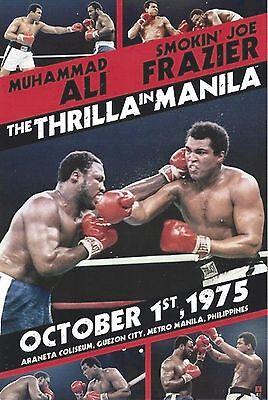 JOE FRAZIER vs MUHAMMAD ALI 8X10 PHOTO BOXING PICTURE THE THRILLA IN MANILLA (Muhammad Ali Boxing Pictures)