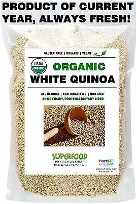 10 Lb 100  Fresh  Usda Certified Organic Premium Quinoa Vegan Gluten Free Nongmo