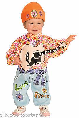 INFANT LI'L ROCK STAR BABY HIPPIE HALLOWEEN COSTUME 18.5-23 Lbs HAT & ONE - Hippie Baby Costume