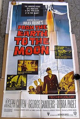 FROM THE EARTH TO THE MOON, 1958 Movie Poster 3
