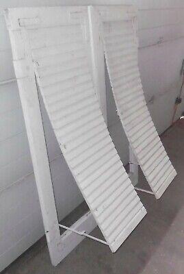 fenster laden paar lamellen holz alt auf klapp top vintage garten deko 130 cm