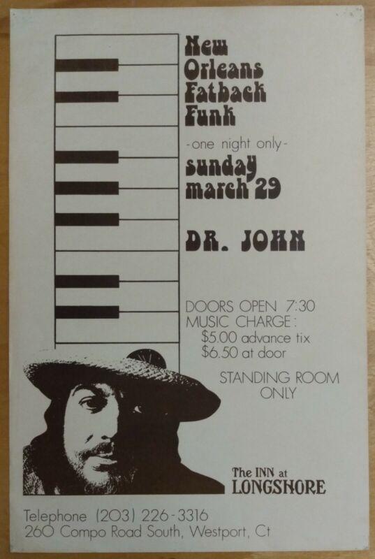 DR. JOHN The Inn at Longshore, Westport CT 1981 CONCERT POSTER