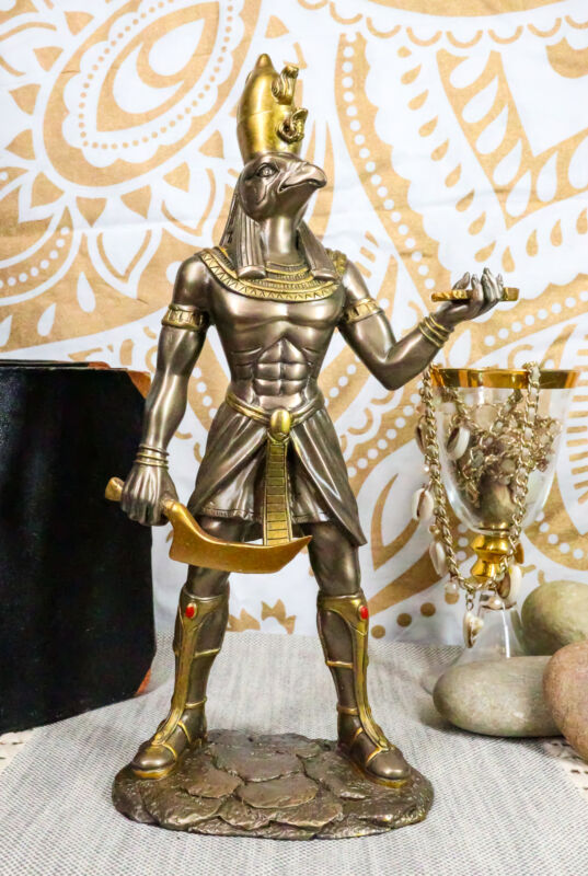 Ebros Egyptian Falcon Horus Statue God Of War Protection & Sky Heru Ra Figurine