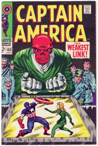Captain America #103 (1968) Red Skull Sharon Carter VF Scans